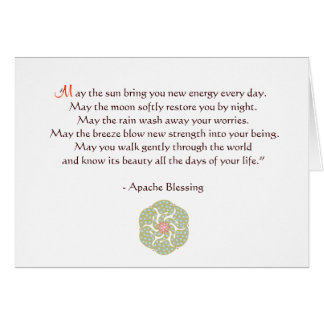 Apache Blessing Greeting Card