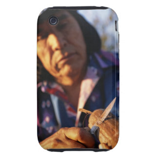 Apache Carving a String Violin Tough iPhone 3 Cover