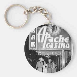 Apache Casino & Bar Vintage Las Vegas Photo Key Ring