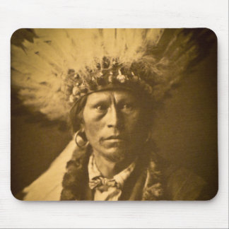 Apache Chief Garfield Indian Vintage Mouse Pad