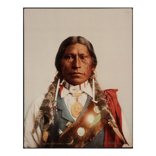 Apache Chief James A. Garfield. Poster