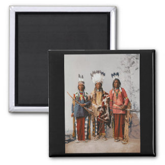 Apache Chiefs Garfield Ouche Te Foya 1899 Square Magnet