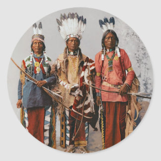 Apache Chiefs Garfield Ouche Te Foya 1899 Round Sticker