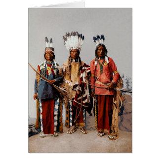 Apache chiefs greeting card
