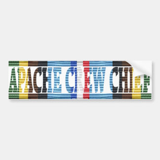 Apache Crew Chief Armed Forces Exped.Medal Sticker Bumper Sticker