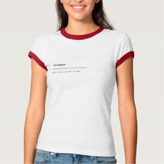 apache forbidden t shirt