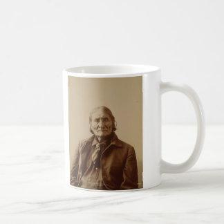 Apache Indian Leader Geronimo by Adolph F. Muhr Basic White Mug