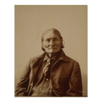 Apache Indian Leader Geronimo by Adolph F. Muhr Poster