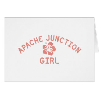 Apache Junction Pink Girl Greeting Card