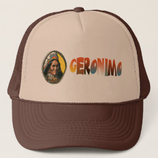 Apache leader Geronimo Trucker Hat
