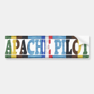 Apache Pilot, Armed Forces Exped. Medal Sticker Bumper Sticker