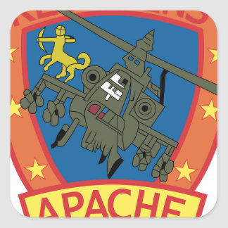 APACHE Redskins Sq - Helicopter - Patches Square Sticker