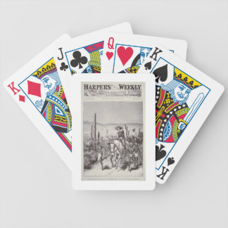 Apache Scouts lead army patrol on pursuit of Geron Bicycle Playing Cards