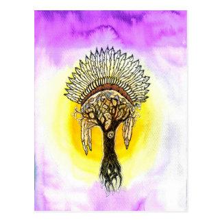 Apache Tree. Postcard