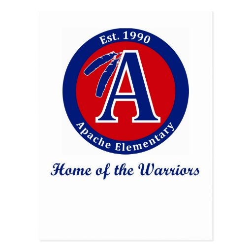 Apache Warrior Elementary School Products Post Card