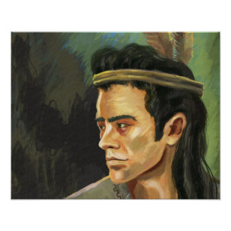 Apache Warrior Portrait Poster