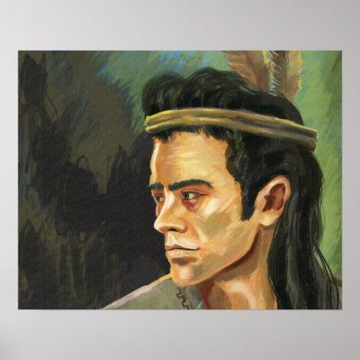 Apache Warrior Portrait Poster