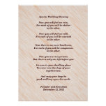 Apache Wedding Blessing 20x28 Matte Poster