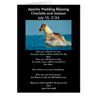 Apache Wedding Blessing Arabian thoroughbred horse Greeting Card