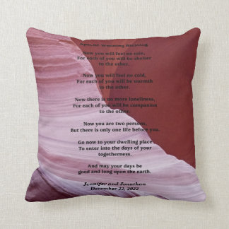Apache Wedding Blessing Canyon Photo Custom Pillow