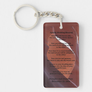 Apache Wedding Blessing Canyon Photo Keychain