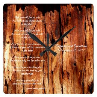 Apache Wedding Blessing Custom Square Wall Clock
