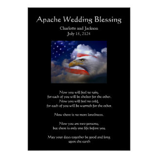 Apache Wedding Blessing Eagle Poster