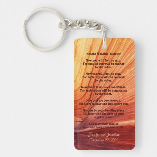 Apache Wedding Blessing Favour Southwest Keychain