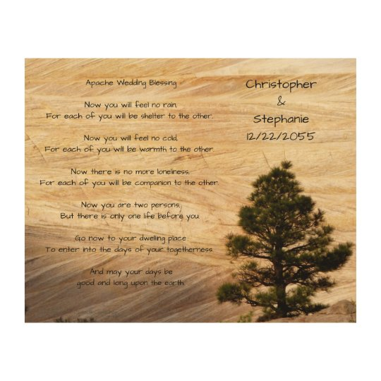 Apache Wedding Blessing Light Brown Stone and Tree