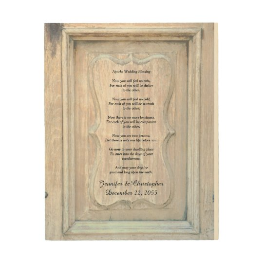 Apache Wedding Blessing Old Wood Background 8x10 Wood
