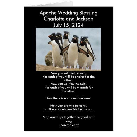 Apache Wedding Blessing Penguins Card