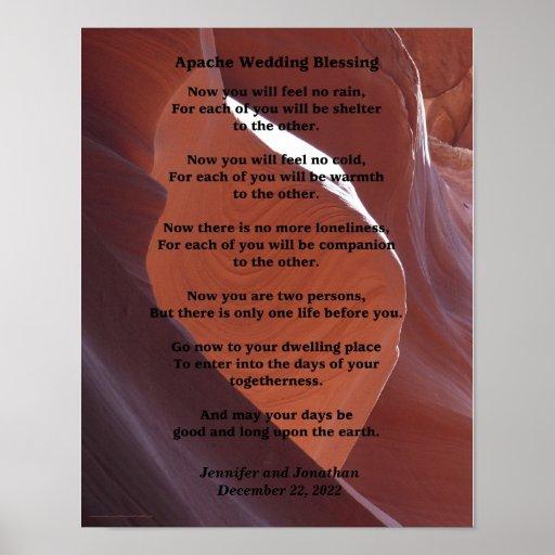 Apache Wedding Blessing Poster 11 X 14 Matte