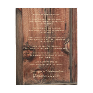 Apache Wedding Blessing Red Barn Background 8x10 Wood Print