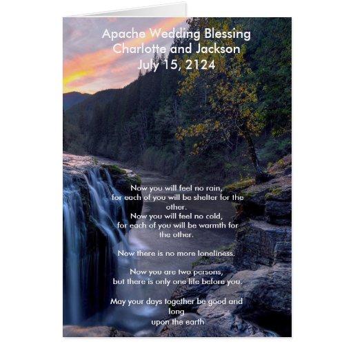 Apache Wedding Blessing: Apache Wedding Blessing River Greeting Card