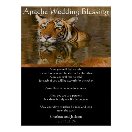 Apache Wedding Blessing Tiger Poster