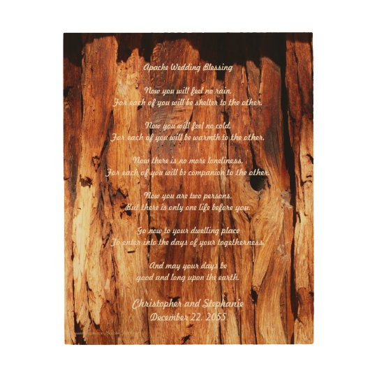 Apache Wedding Blessing Weathered Wood Wall Art