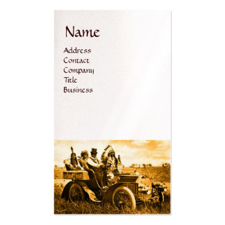 APACHES AND GERONIMO DRIVING A MOTOR CAR BUSINESS CARD