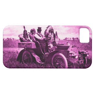 APACHES AND GERONIMO DRIVING A MOTOR CAR iPhone 5 CASES
