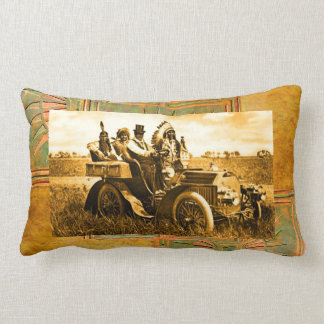 APACHES AND GERONIMO DRIVING A MOTOR CAR PILLOW