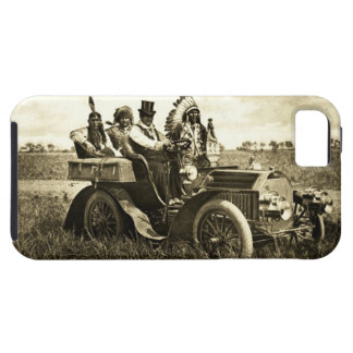 APACHES AND GERONIMO DRIVING A MOTOR CAR iPhone 5 COVERS