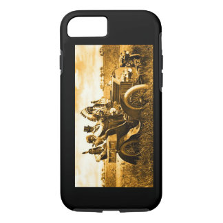 APACHES AND GERONIMO DRIVING A MOTOR CAR iPhone 7 CASE
