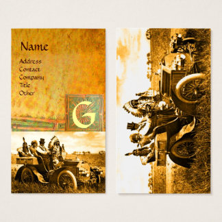 APACHES AND GERONIMO DRIVING A MOTOR CAR, Monogram Business Card