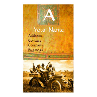 APACHES AND GERONIMO DRIVING A MOTOR CAR, Monogram Business Card Template