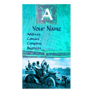 APACHES AND GERONIMO DRIVING A MOTOR CAR, Monogram Business Cards