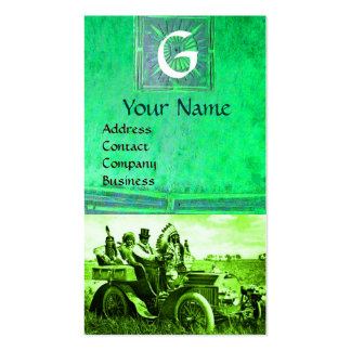APACHES AND GERONIMO DRIVING A MOTOR CAR, Monogram Pack Of Standard Business Cards