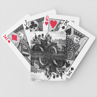 APACHES AND GERONIMO DRIVING A MOTOR CAR DECK OF CARDS