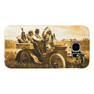 APACHES AND GERONIMO DRIVING A MOTOR CAR SAMSUNG GALAXY S6 CASES