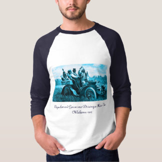 APACHES AND GERONIMO DRIVING A MOTOR CAR T SHIRT