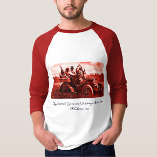 APACHES AND GERONIMO DRIVING A MOTOR CAR TEE SHIRT