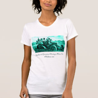APACHES AND GERONIMO DRIVING A MOTOR CAR TEE SHIRTS